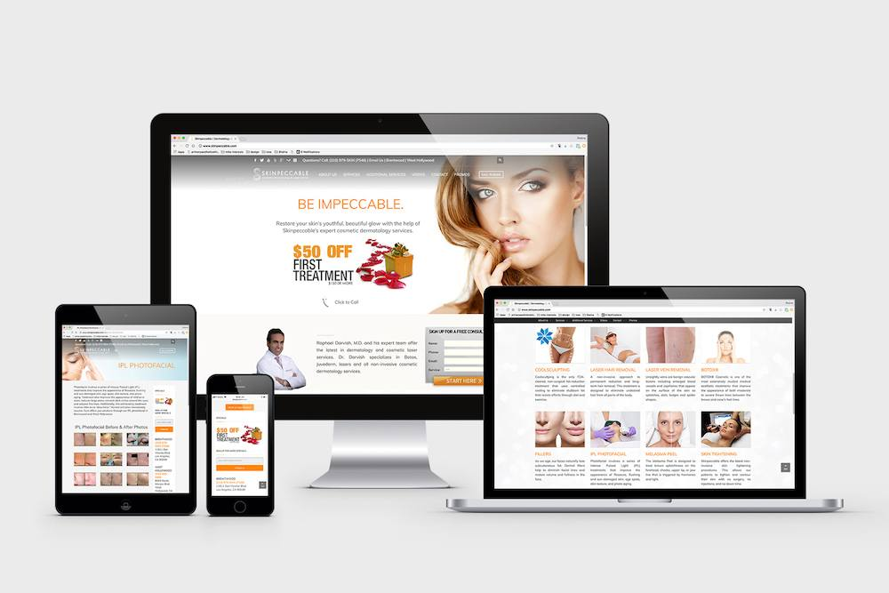 Skinpeccable Responsive Website Design by Visualab