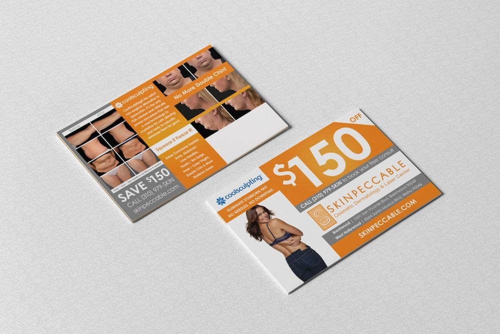 Skinpeccable direct mailer graphic design