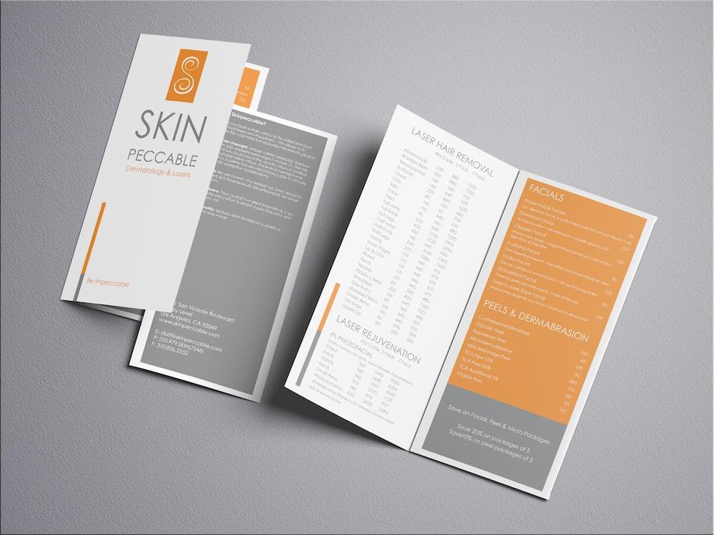 Skinpeccable Brochure Design, Marketing collateral design