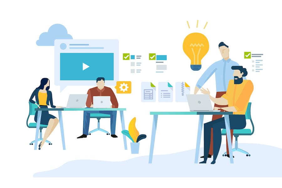 Content development strategy illustration