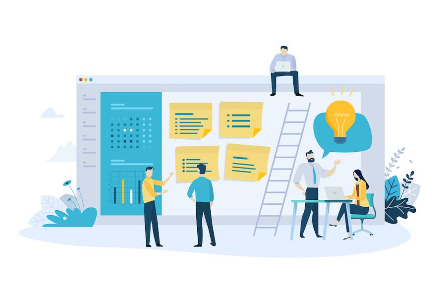 Web Development process illustration
